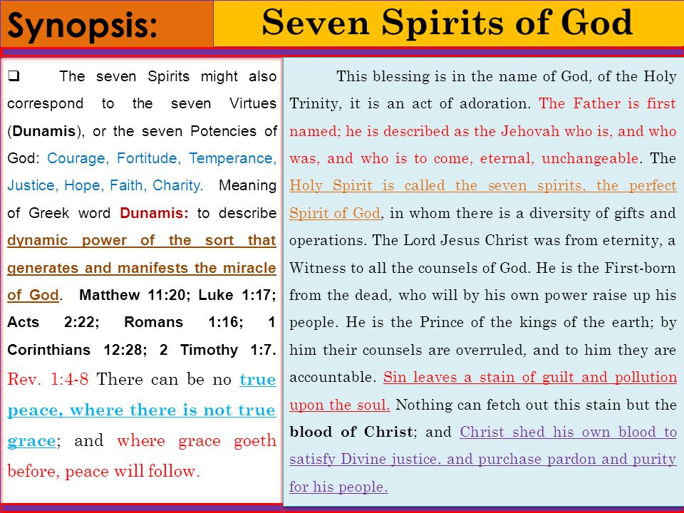 7 Gifts Of The Holy Spirit Meaning