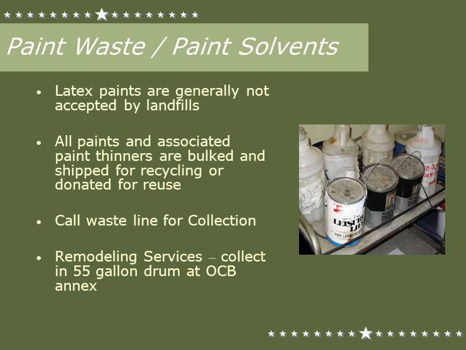 Paint Waste / Paint Solvents