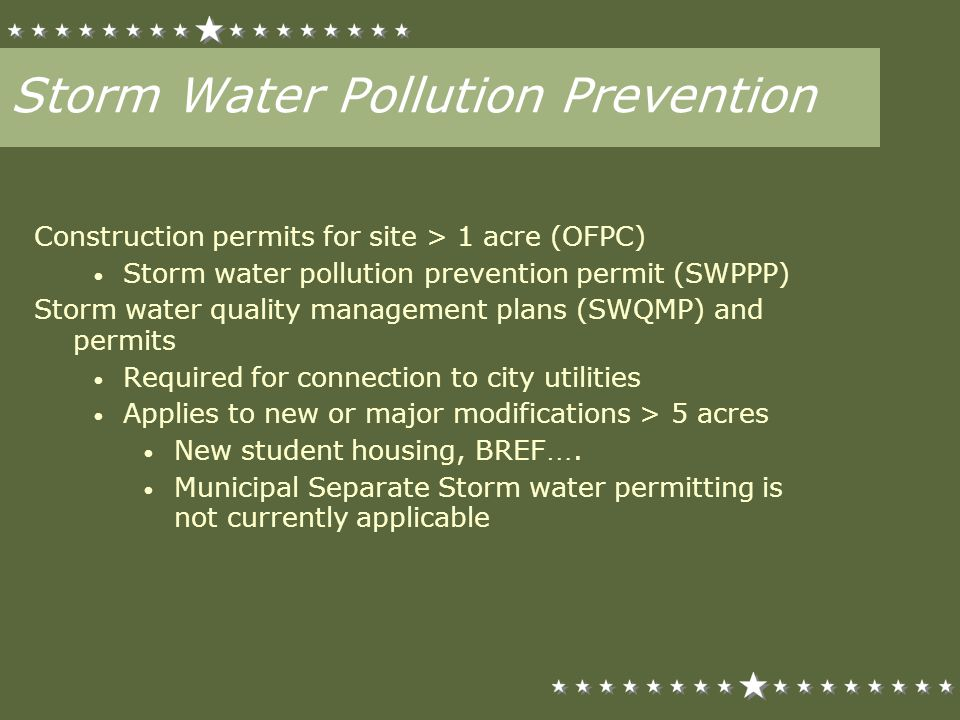 Standard Urban Stormwater Mitigation Plan