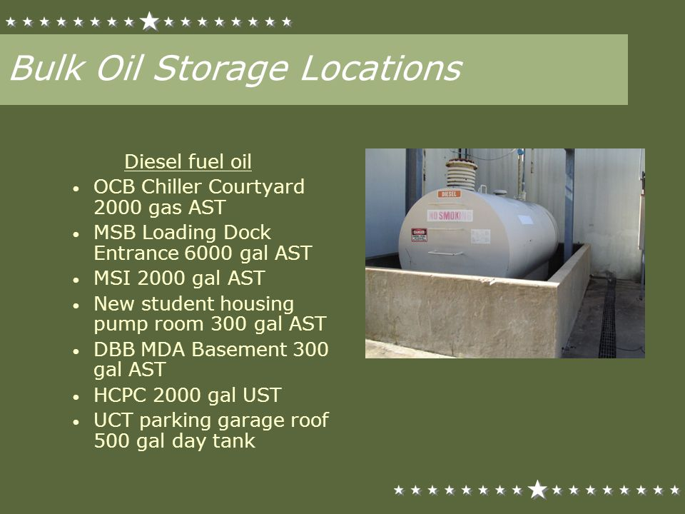 Bulk Oil Storage Locations