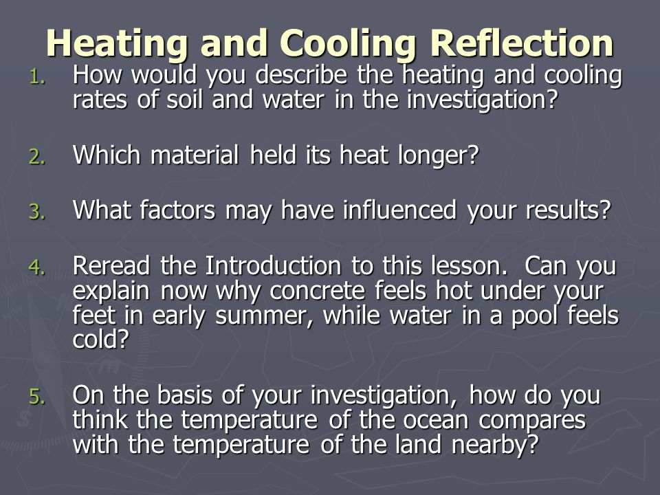 Heating and Cooling Reflection