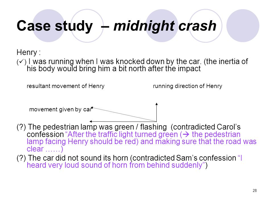 Case study – midnight crash