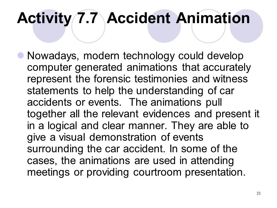 Activity 7.7 Accident Animation