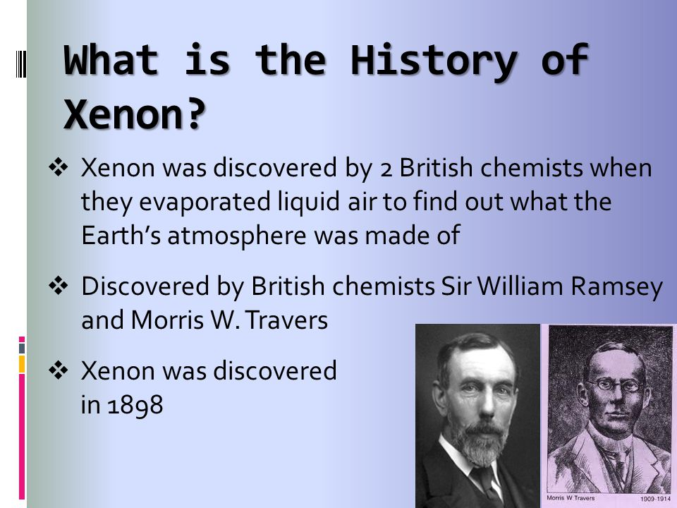 What is the History of Xenon