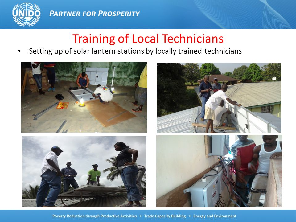 Training of Local Technicians