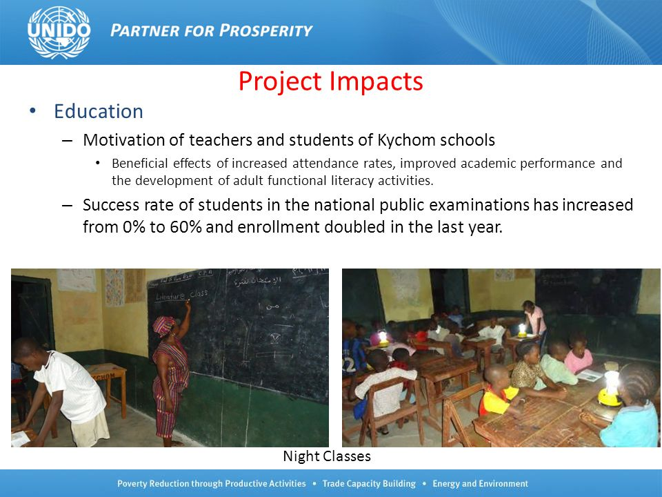 Project Impacts Education