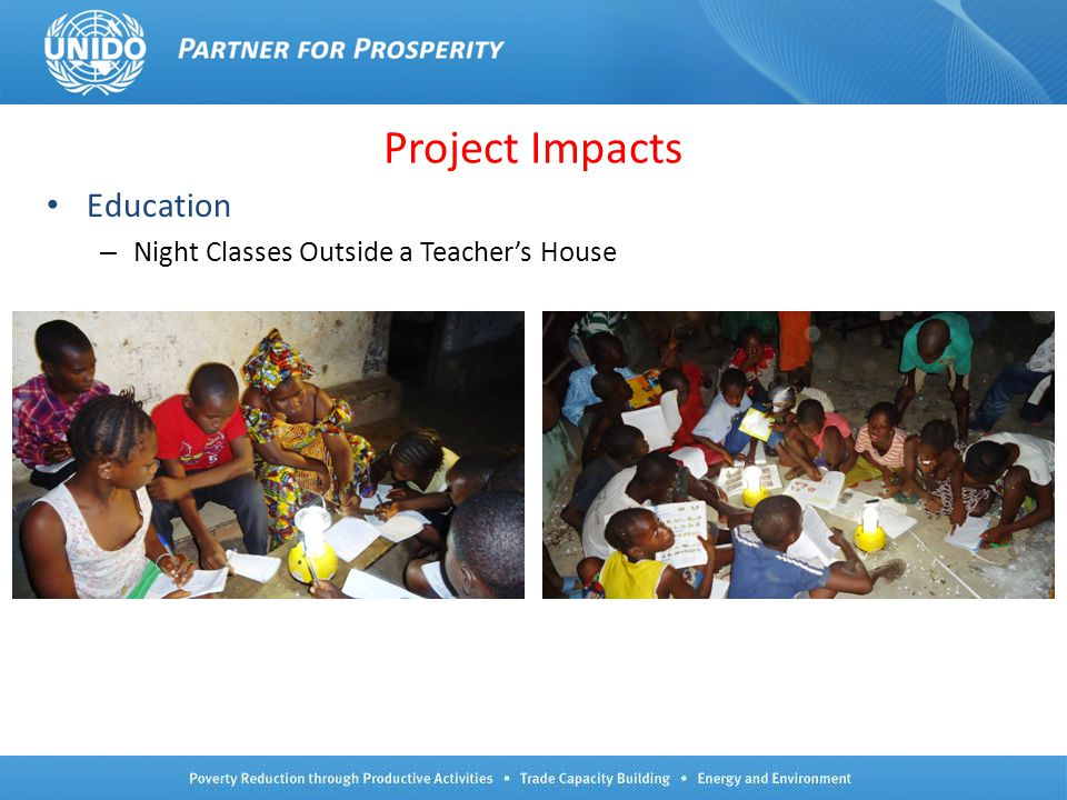 Project Impacts Education Night Classes Outside a Teacher's House