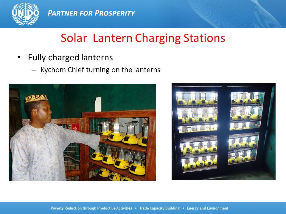 Solar Lantern Charging Stations