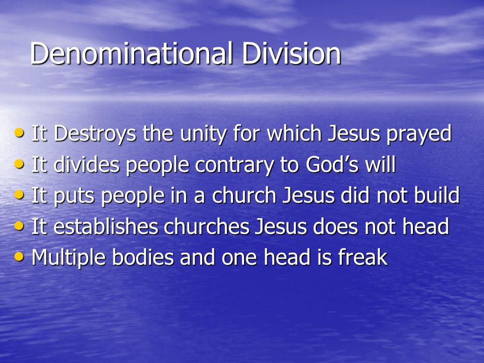 Denominational Division