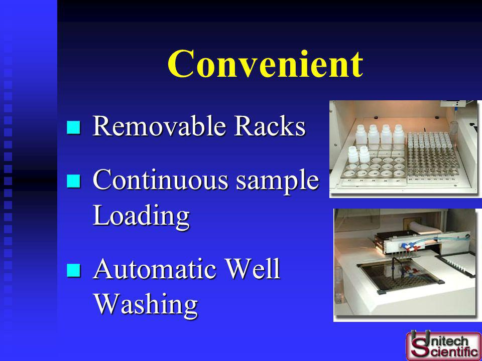 Convenient Removable Racks Continuous sample Loading