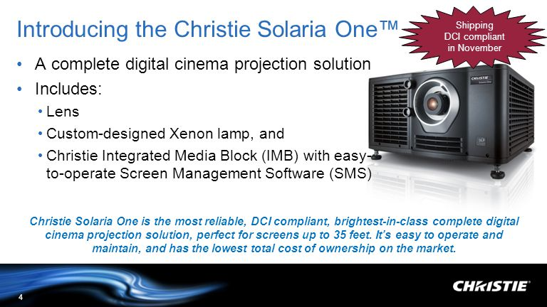 Introducing the Christie Solaria One™