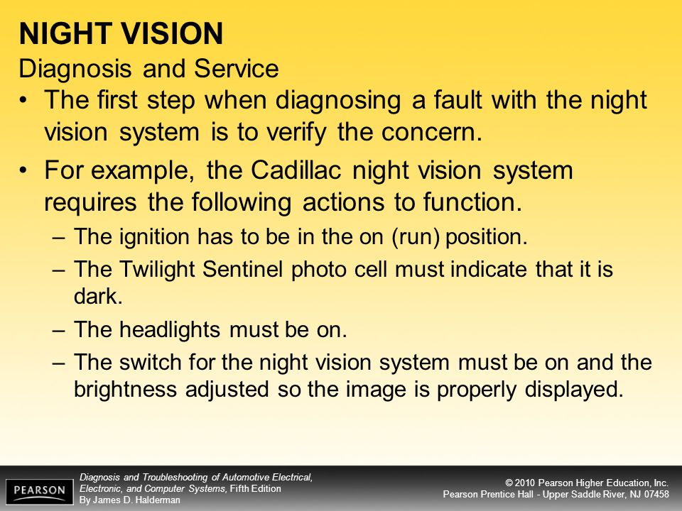 NIGHT VISION Diagnosis and Service