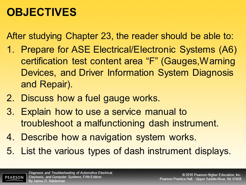 OBJECTIVES After studying Chapter 23, the reader should be able to: