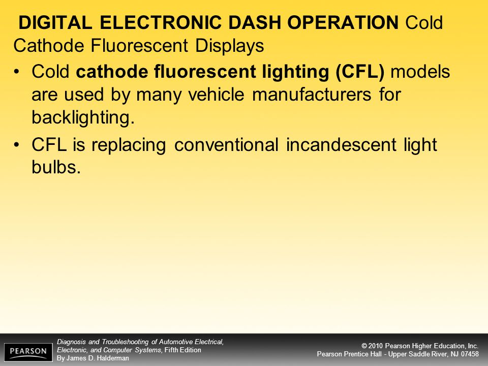 DIGITAL ELECTRONIC DASH OPERATION Cold Cathode Fluorescent Displays