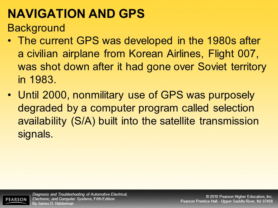 NAVIGATION AND GPS Background