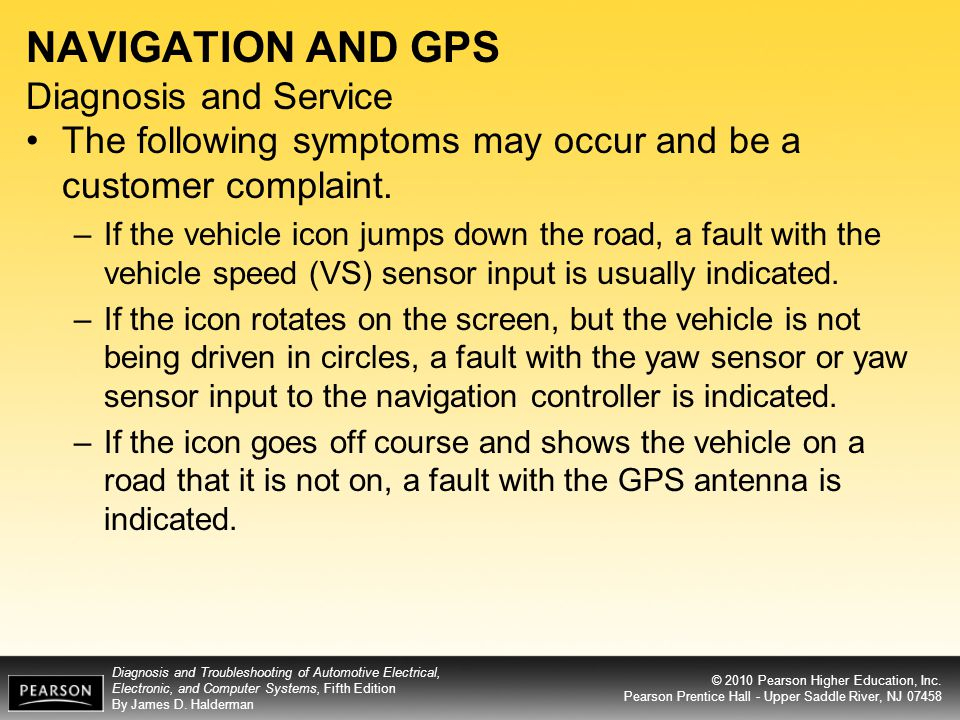 NAVIGATION AND GPS Diagnosis and Service