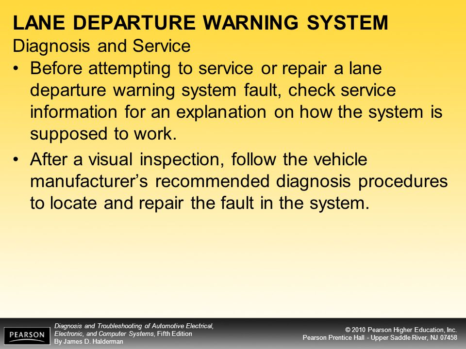 LANE DEPARTURE WARNING SYSTEM Diagnosis and Service