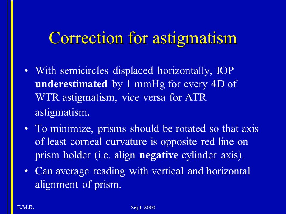 Correction for astigmatism