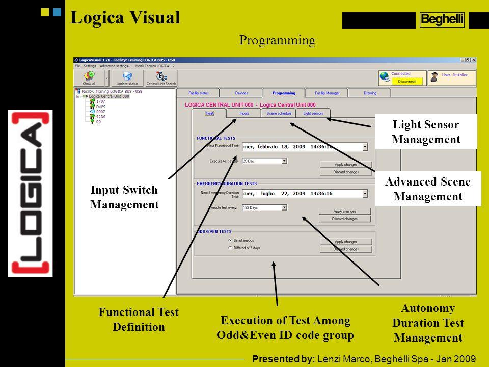 Logica Visual Programming Light Sensor Management