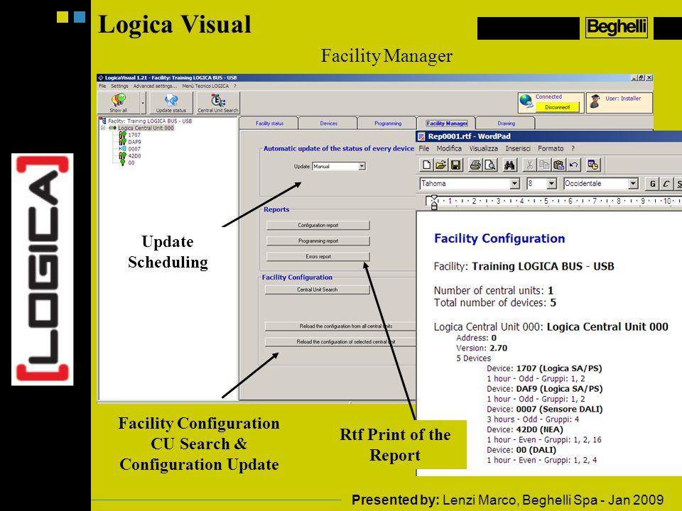 Facility Configuration CU Search & Configuration Update