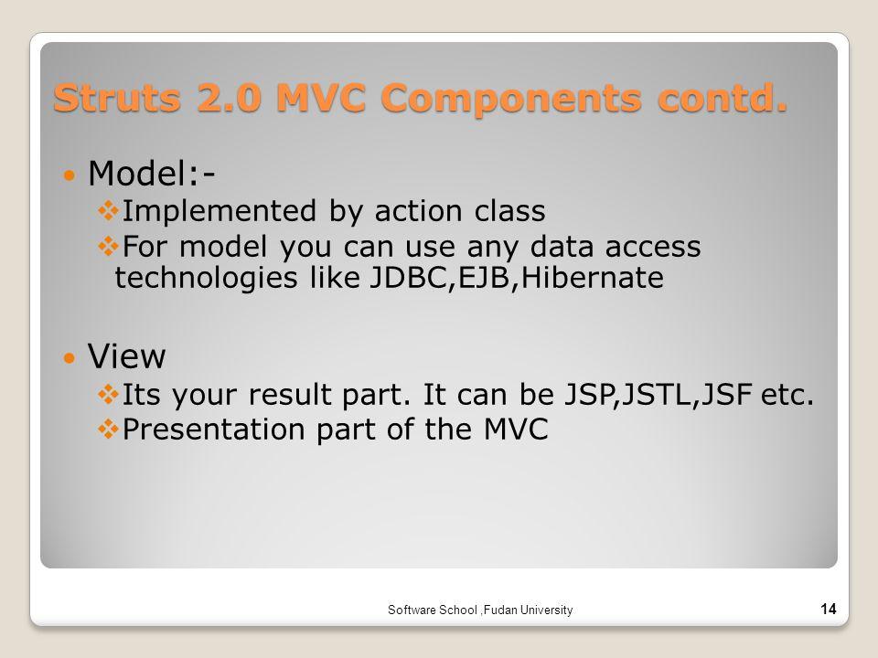 Struts 2.0 MVC Components contd.
