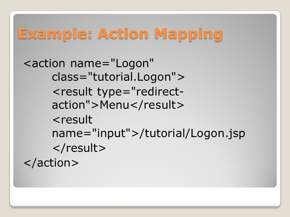 Example: Action Mapping