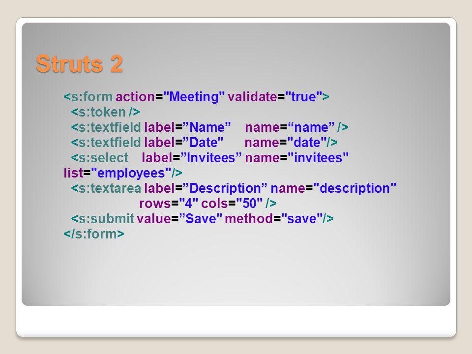 Struts 2 <s:form action= Meeting validate= true >