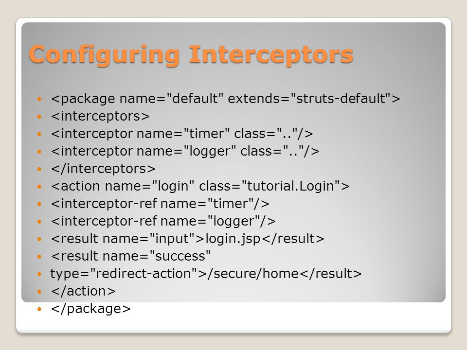 Configuring Interceptors