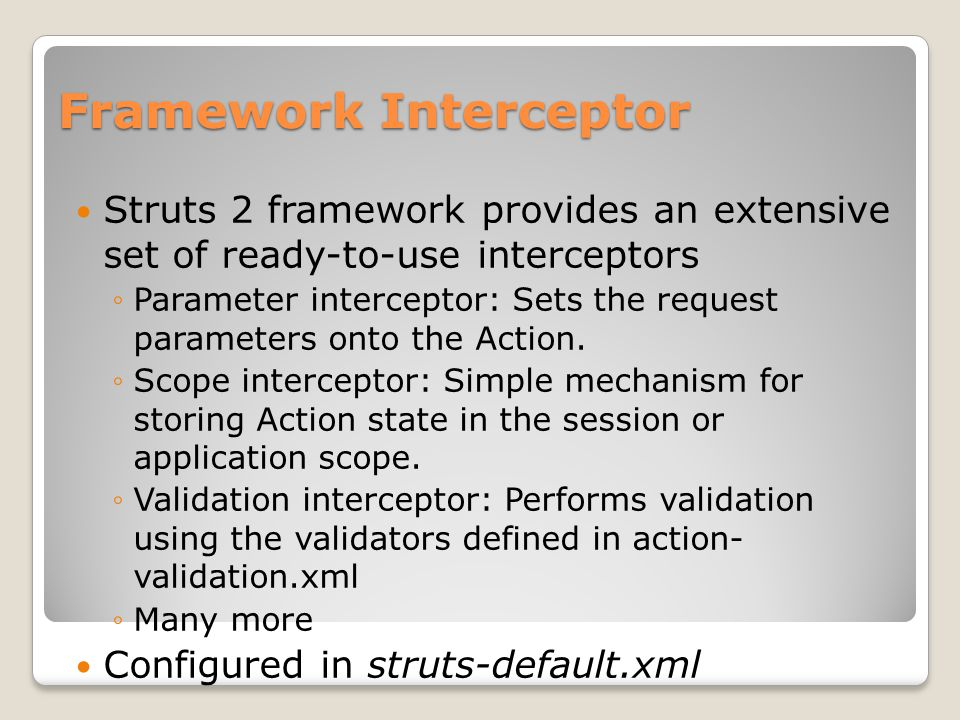Framework Interceptor