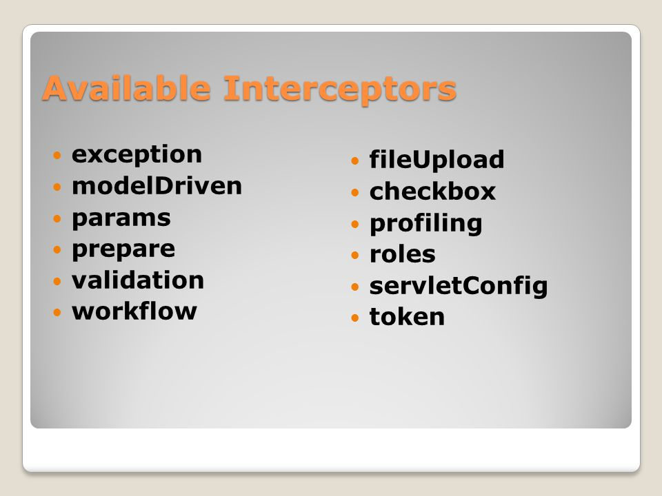 Available Interceptors