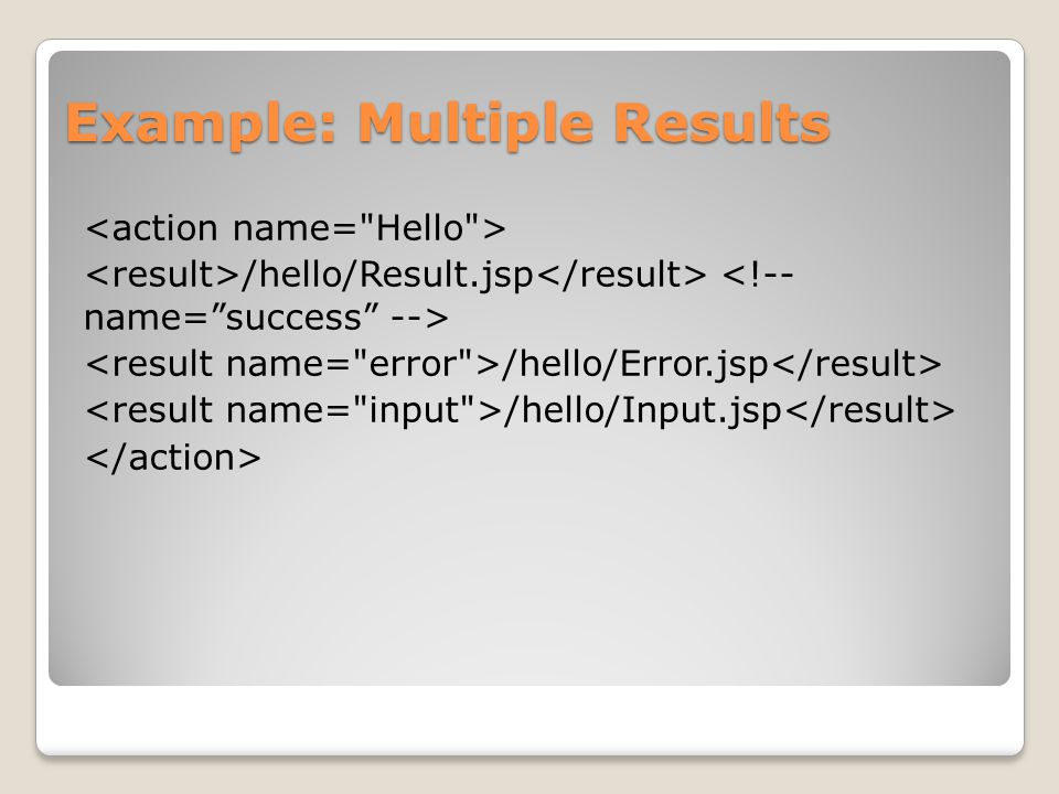 Example: Multiple Results