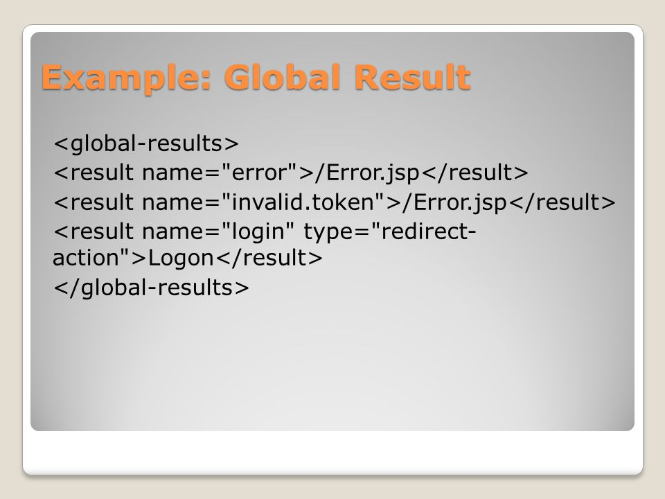 Example: Global Result