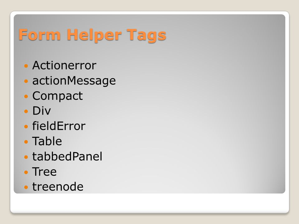 Form Helper Tags Actionerror actionMessage Compact Div fieldError