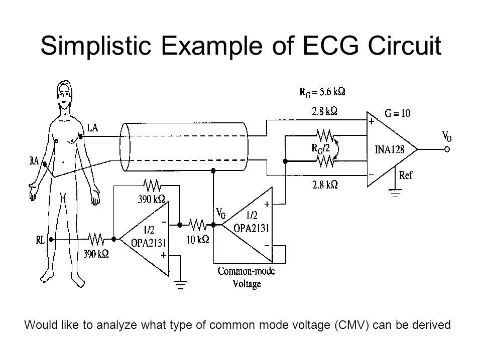 Simplistic Example of ECG Circuit