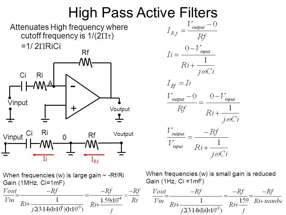 High Pass Active Filters