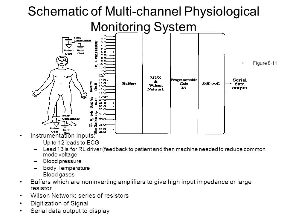 Schematic of Multi-channel Physiological Monitoring System