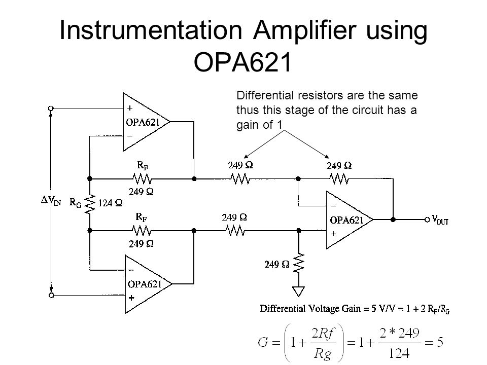 Instrumentation Amplifier using OPA621