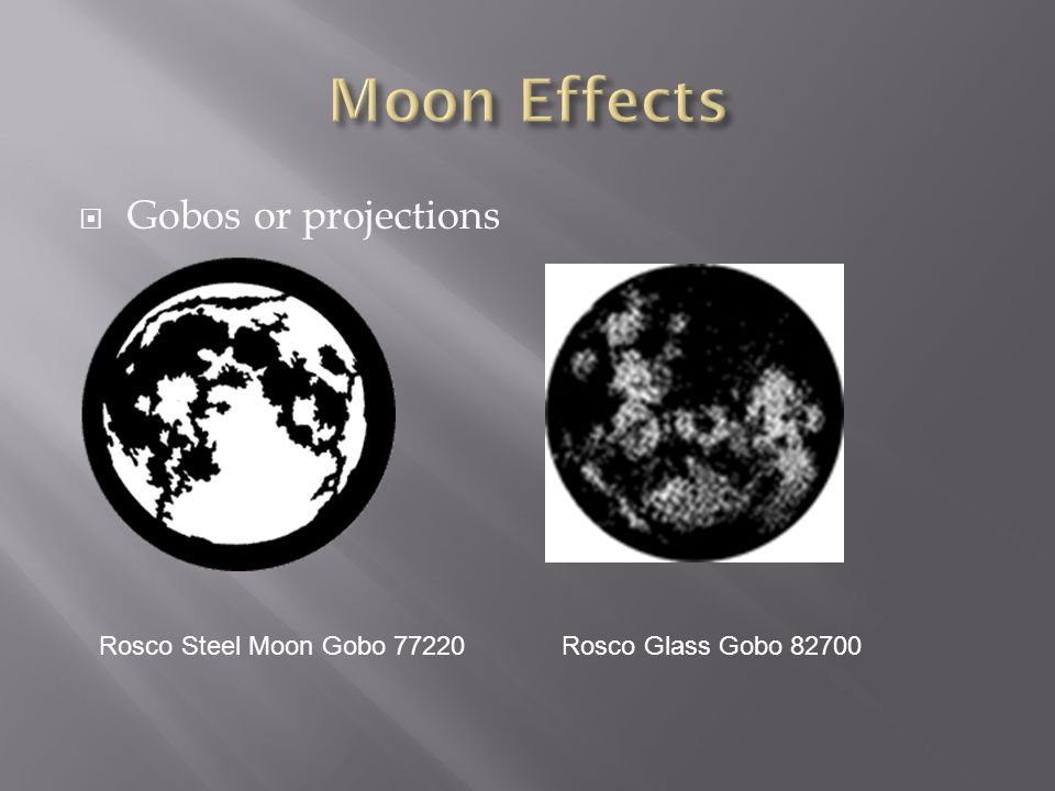 Moon Effects Gobos or projections