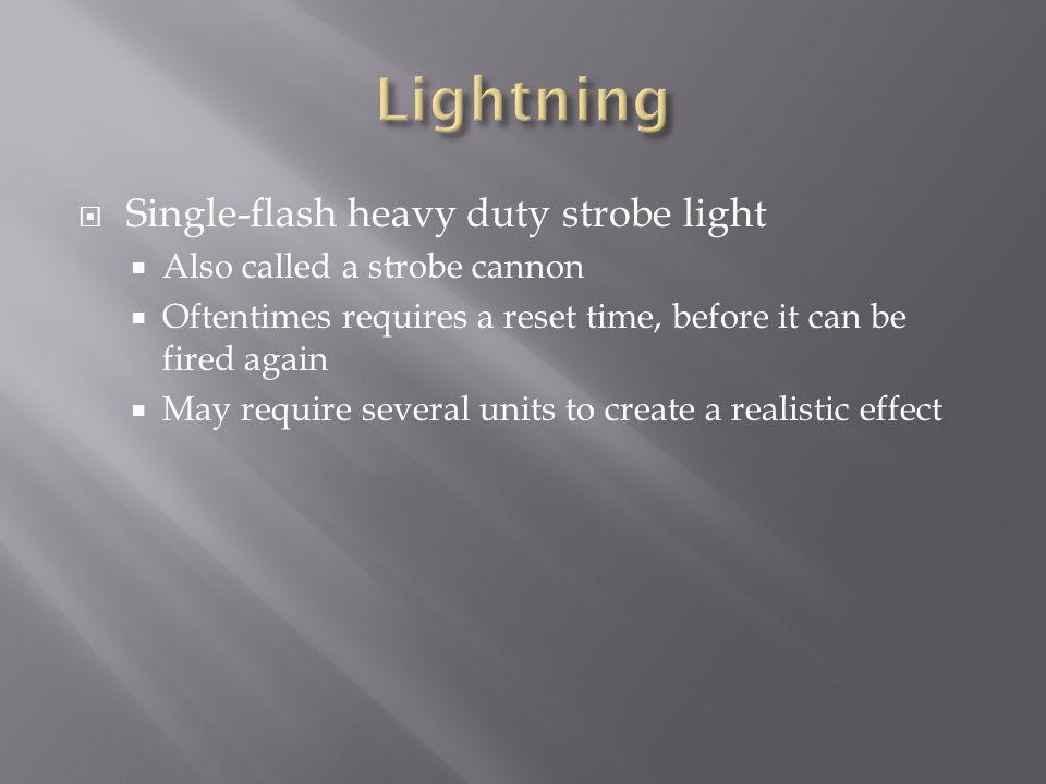 Lightning Single-flash heavy duty strobe light
