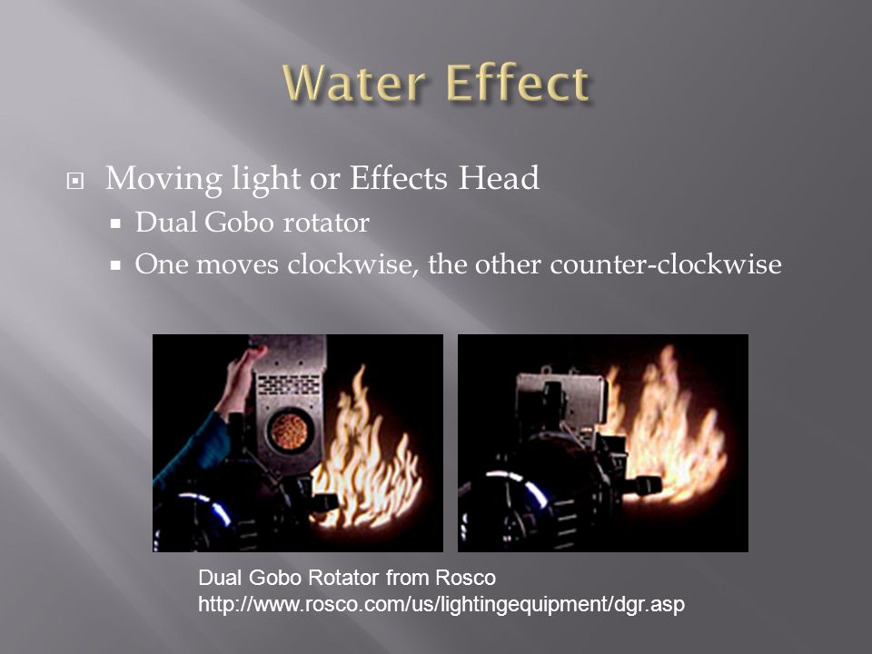 Water Effect Moving light or Effects Head Dual Gobo rotator
