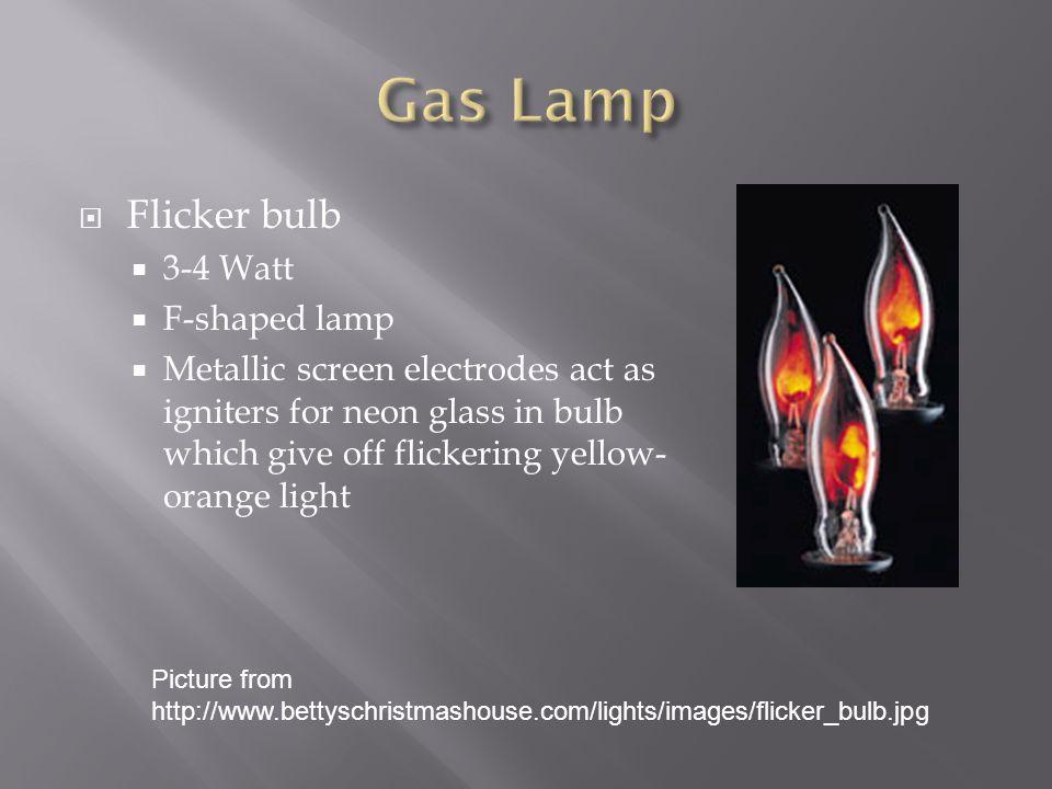 Gas Lamp Flicker bulb 3-4 Watt F-shaped lamp