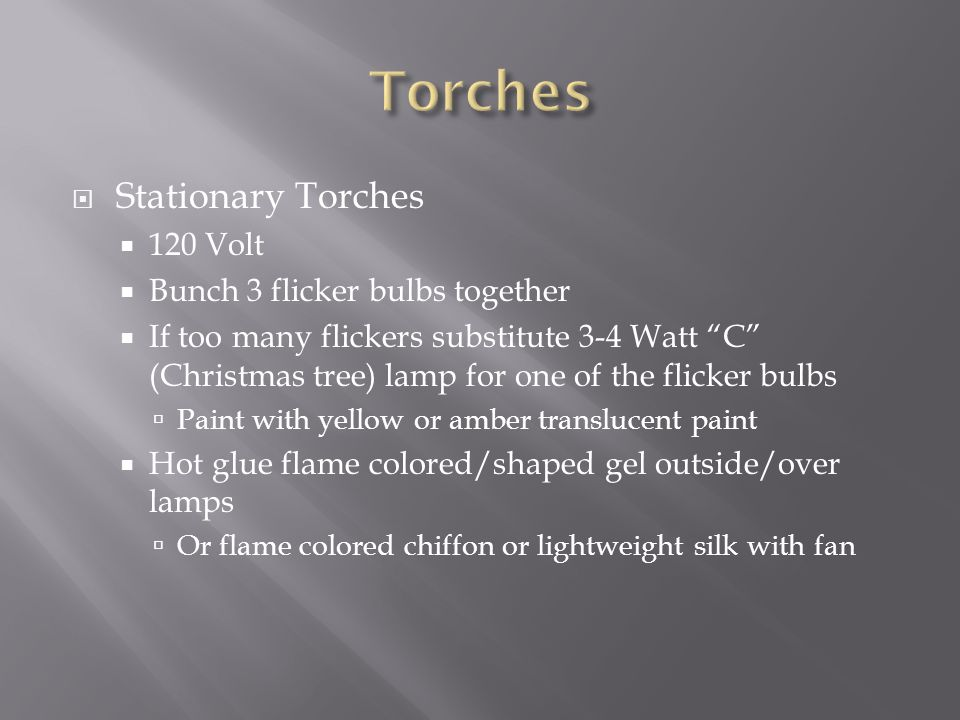 Torches Stationary Torches 120 Volt Bunch 3 flicker bulbs together