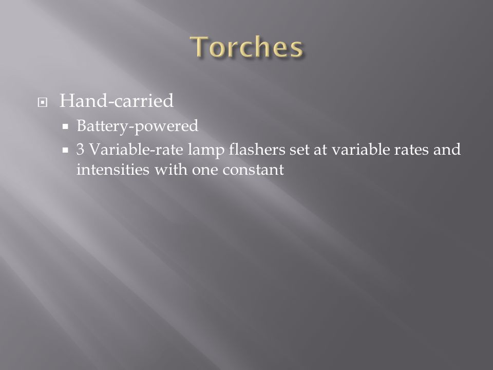Torches Hand-carried Battery-powered