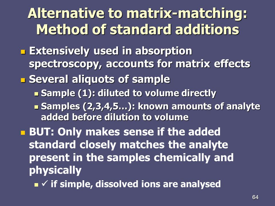 Alternative to matrix-matching: Method of standard additions
