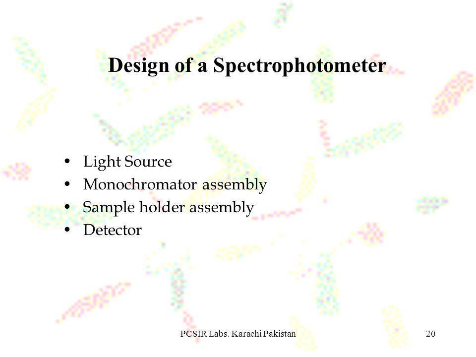 Design of a Spectrophotometer