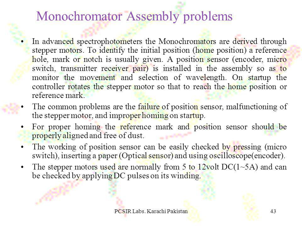 Monochromator Assembly problems