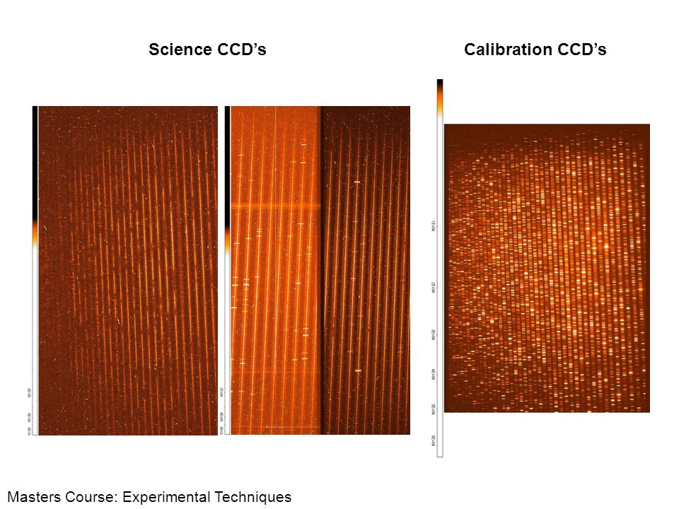 Science CCD's Calibration CCD's