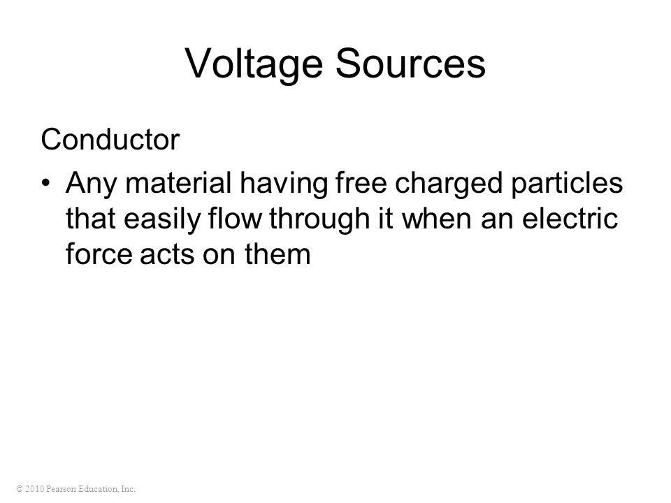 Voltage Sources Conductor