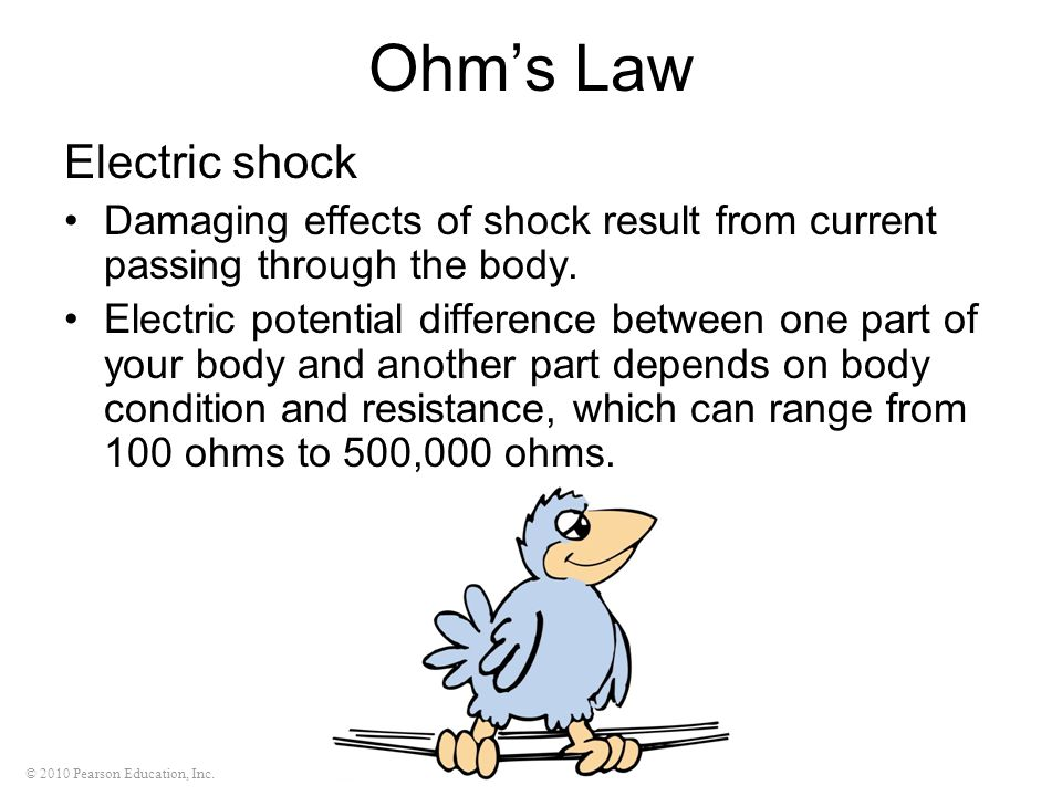 Ohm's Law Electric shock