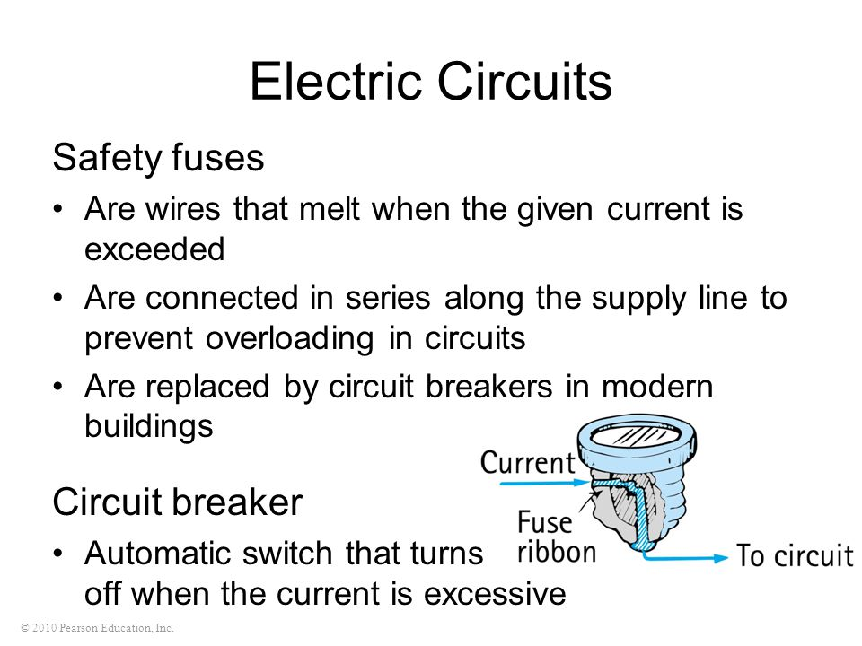 Electric Circuits Safety fuses Circuit breaker